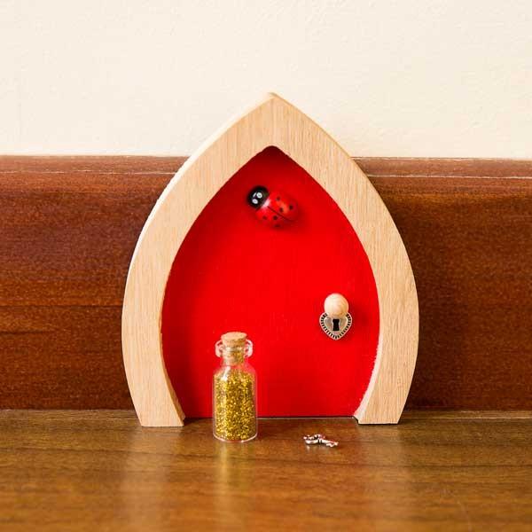Red fairy door ladybird for Red elf door