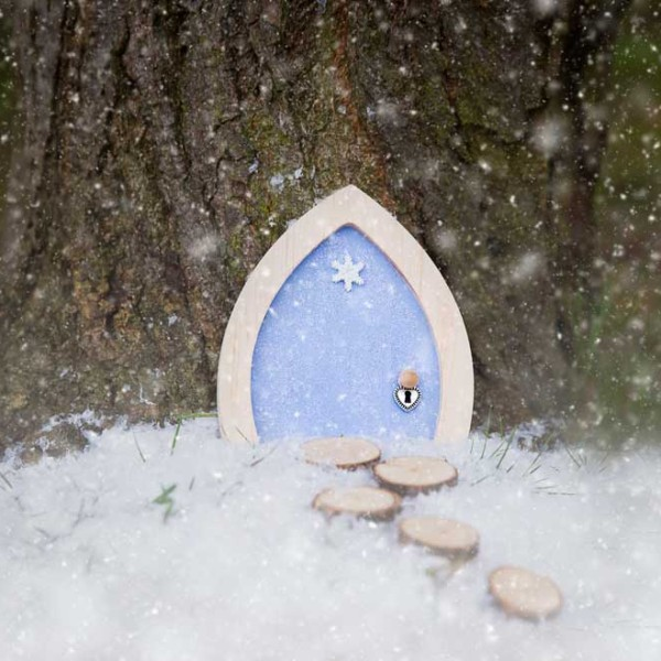 Snowflake sparkle fairy door for The magic elf door