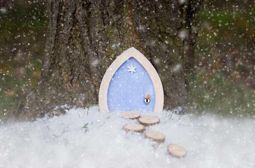 Snowflake Sparkle Fairy Door