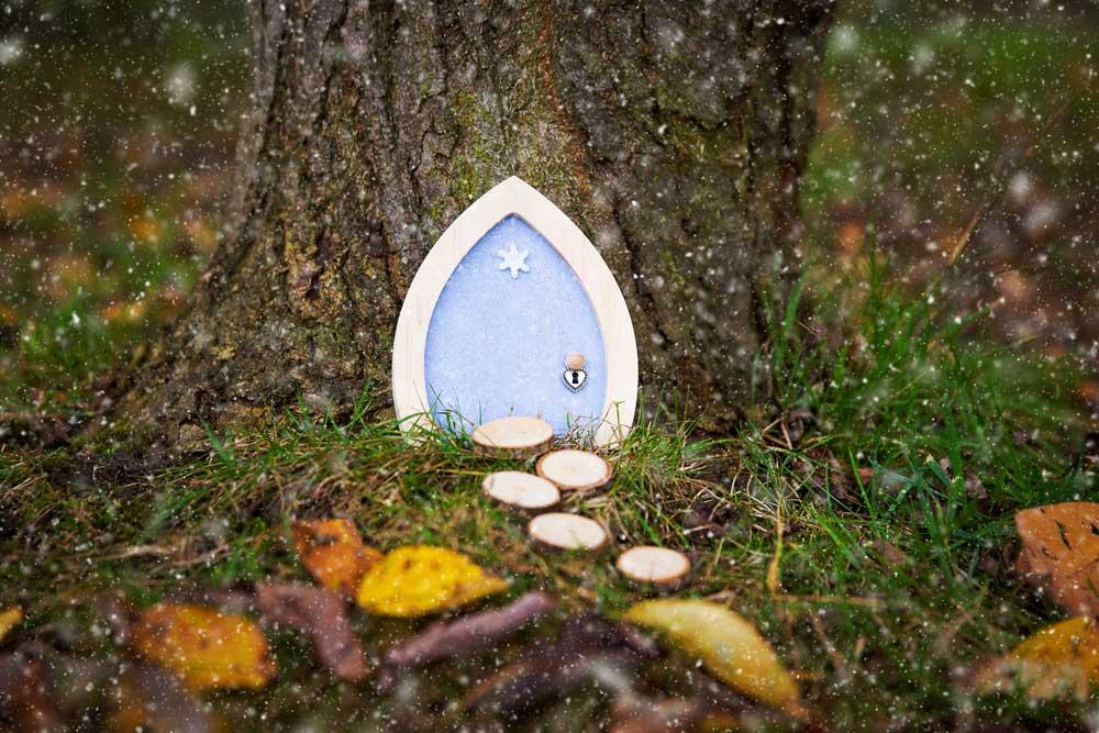 Blue Sparkle Fairy Door ... & Snowflake Sparkle Fairy Door