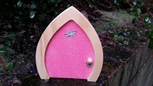 pink sparkle fairy door